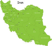 Iran map Stock Photography