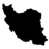 IRAN MAP Stock Image