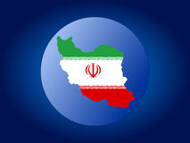 Iran map flag sphere Stock Photo
