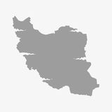 Iran map in gray on a white background Stock Photos