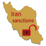 Iran map Stock Photos