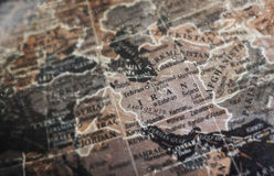 Iran map on vintage crack paper background Royalty Free Stock Photo