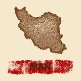 Iran martwił mapę Fotografia Royalty Free