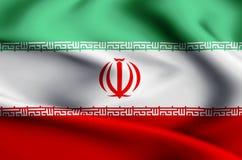 Iran flag illustration vector illustration