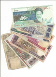 Iran money in rials Royalty Free Stock Photo