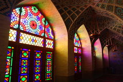 iran moské shiraz arkivbild