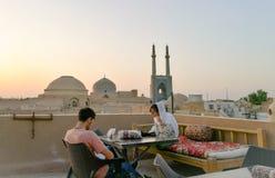 iran moskéyazd Royaltyfri Fotografi