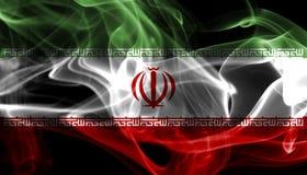 Iran national smoke flag isolated on a black background. Iran smoke flag isolated on a black background stock photography
