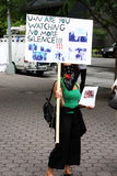 iran nya protester york Arkivfoton