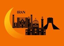 Iran och måne Royaltyfria Foton