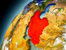 Iran from orbit of model Earth Royalty Free Stock Image