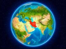 Iran på jord Arkivfoton