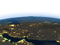 Iran and Pakistan region at night on planet Earth Stock Photos