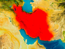 Iran on physical map Stock Photography