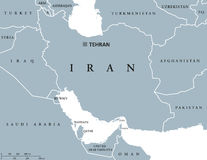 Iran political map Stock Photo