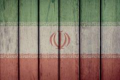 Iran Flag Wooden Fence. Iran Politics News Concept: Iranian Flag Wooden Fence stock photography