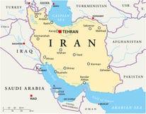 Iran politisk översikt stock illustrationer