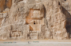 Iran. Relief at Naqsh-i Rustam dates to 1000 BC. Royalty Free Stock Photography