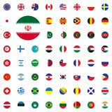 Iran round flag icon. Round World Flags Vector illustration Icons Set. Iran round flag icon. Round World Flags Vector illustration Icons Set Royalty Free Stock Image
