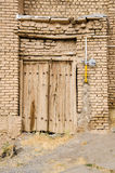 Iran rural houses gas delivery. Rural door and domestic gas pressure regulator Royalty Free Stock Photos