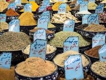 Iran rynku bazaru pikantność Esfahan zdjęcia stock