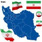 Iran set. Royalty Free Stock Photo