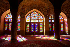 iran shiraz MoskéNasir-Al-Molk 4 glass stained window Arkivfoto