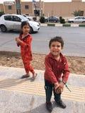 Ä°ran kids street smile beatiful. Ä°ran street kids royalty free stock photography