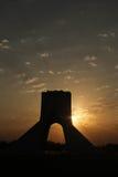Iran, Teheran, Azadi-toren, centrum van Teheran Royalty-vrije Stock Foto's