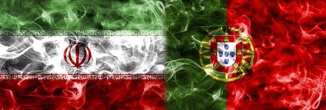 Iran vs den Portugal rökflaggan, grupp B, fotbollvärldscup 2018, M Royaltyfri Fotografi