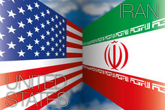 Iran vs usa flags Stock Photography