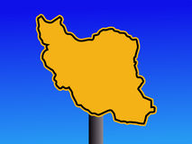 Iran warning sign Royalty Free Stock Photography