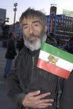 Iraniër voerde proets op Stock Afbeelding