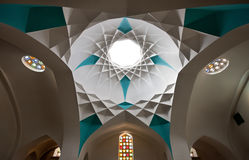Iranian Architecture in Hammam Khan of Yazd Stock Photo