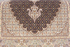 Persian carpet. Iranian carpets and rugs in a nice design Stock Photos