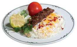 Iranian chelo kebab Royalty Free Stock Images