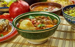Iranian Khoresht Loobia Sabz. Iranian cuisine - Khoresht Loobia Sabz, Persian Green Bean Stew Stock Image