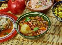 Iranian Khoresht Loobia Sabz. Iranian cuisine - Khoresht Loobia Sabz, Persian Green Bean Stew Stock Photo