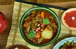 Iranian Khoresht Loobia Sabz. Iranian cuisine - Khoresht Loobia Sabz, Persian Green Bean Stew Royalty Free Stock Photography