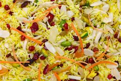 Iranian cuisine, persian jeweled rice. Javaher polow Royalty Free Stock Photography