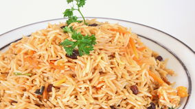 Iranian Cuisine: Yellow Rice with Raisins and carrots stock video