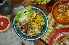 Iranian Zereshk Polo Morgh. Iranian cuisine - Zereshk Polo Morgh,Persian classic made chicken and Persian rice Stock Photography