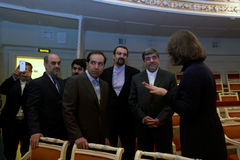 Iranian delegation during 4th St. Petersburg International Cultural Forum Royalty Free Stock Images