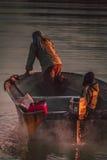 Iranian fisherman Stock Photography