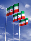 Iranian flag. The flag of Iran flying in a gentle breeze royalty free illustration