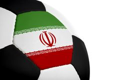 Iranian Flag - Football Stock Photo