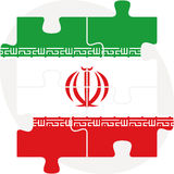 Iranian Flag in puzzle Royalty Free Stock Image