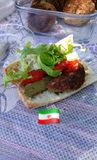 Iranian food. Iranian Sandwich in picnic Stock Photo