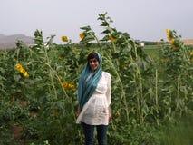 Iranian girl in village near Shiraz. Royalty Free Stock Photo