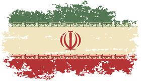 Iranian grunge flag. Vector illustration. Royalty Free Stock Images